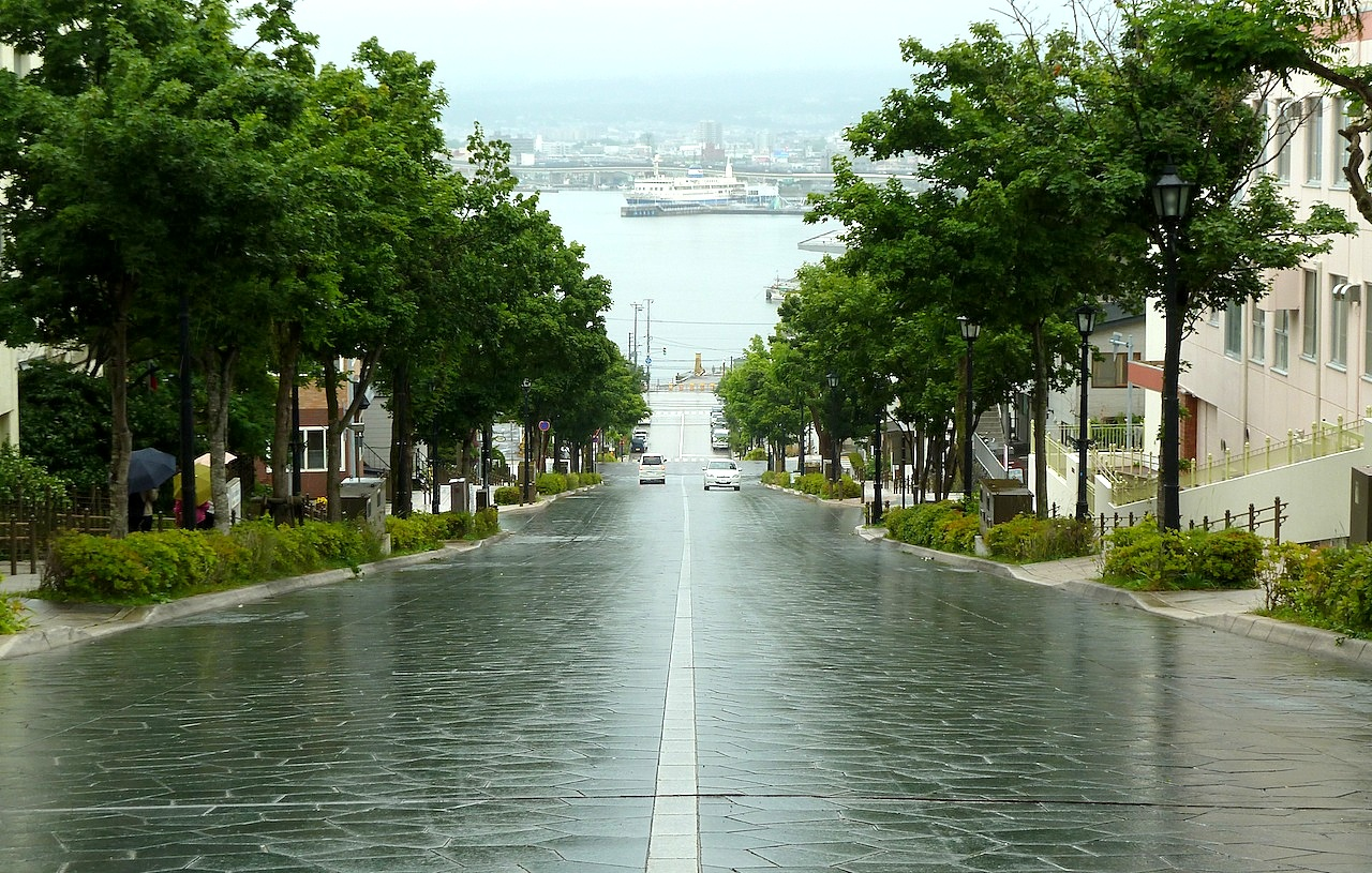 北海道の函館の観光旅行 八幡坂