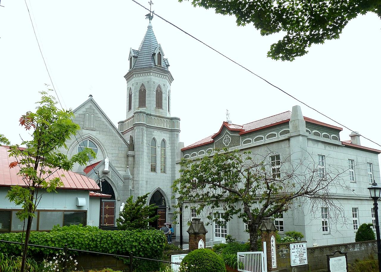 北海道の函館の観光旅行 カトリック元町教会