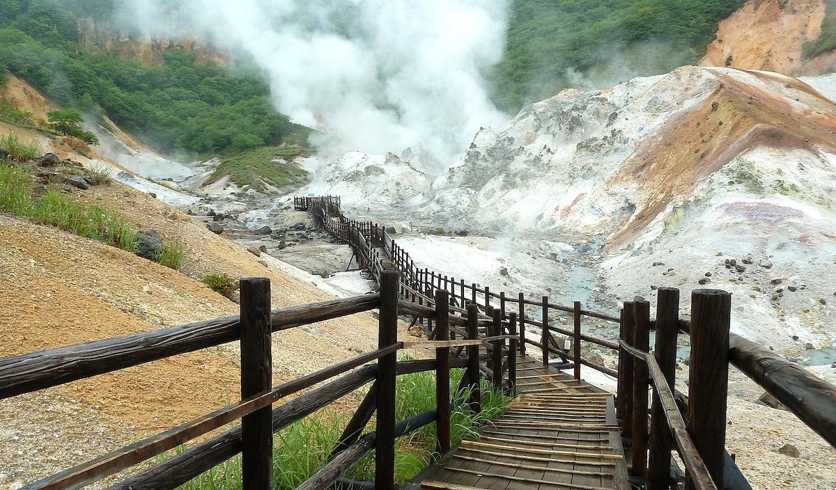 北海道旅行 登別温泉の地獄谷の観光