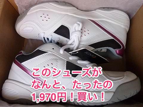 【お得】今ならスポーツシューズが激安!私はテニス用を1970円で購入
