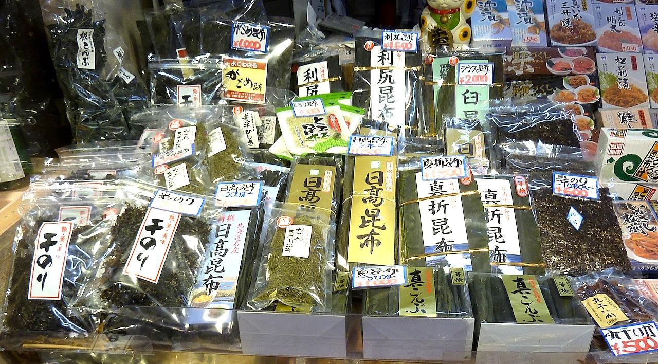 北海道の函館グルメ旅行 朝市のがごめ昆布