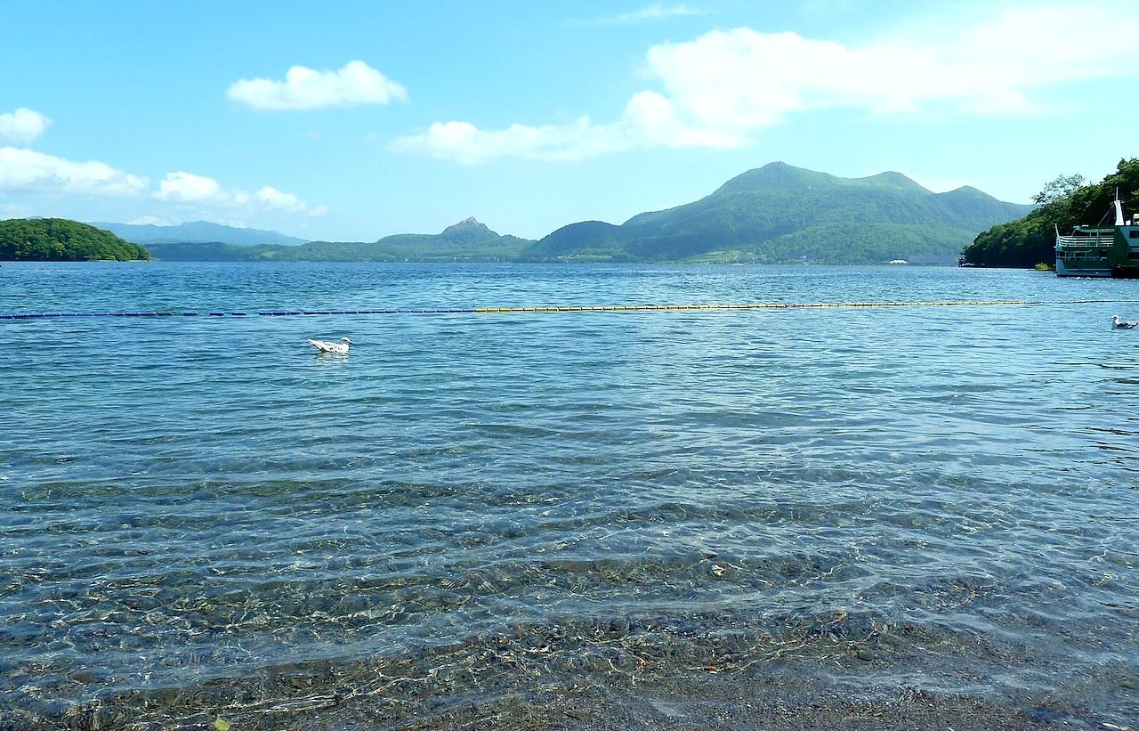 北海道の洞爺湖の観光旅行 中島